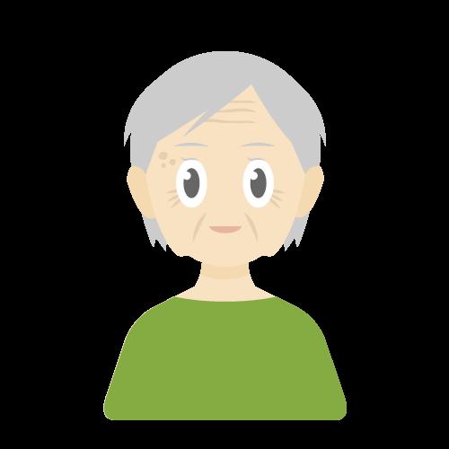 人物(老人/女性)の無料アイコン・イラスト素材