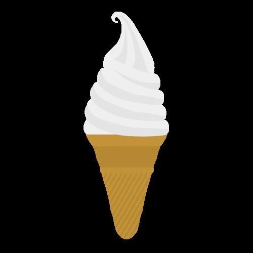 ソフトクリーム(アイス)の無料アイコン・イラスト素材
