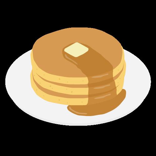 ホットケーキの無料アイコン・イラスト素材