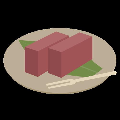 ようかん(羊羹)の無料アイコン・イラスト素材