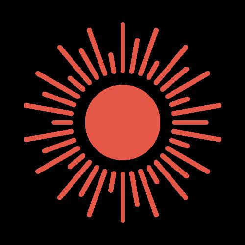 太陽(天気)の無料アイコン・イラスト素材