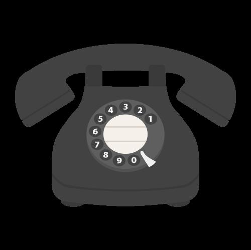 黒電話の無料アイコン・イラスト素材