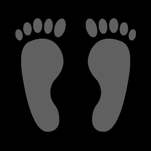 足跡(裸足)の無料アイコン・イラスト素材