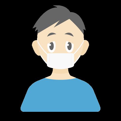 人物(風邪・病気/男性)の無料アイコン・イラスト素材