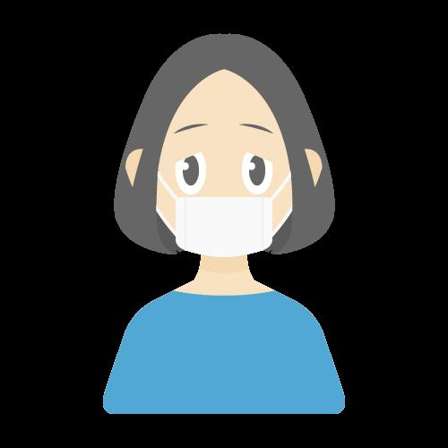 人物(風邪・病気/女性)の無料アイコン・イラスト素材