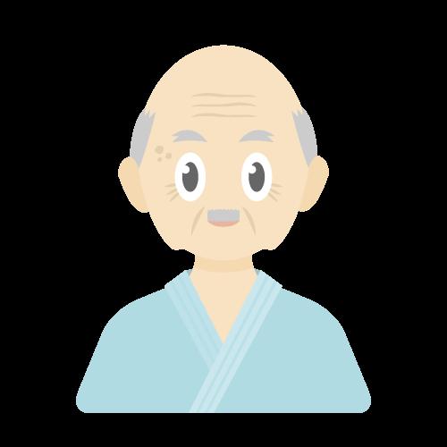 人物(患者/老人/男性)の無料アイコン・イラスト素材