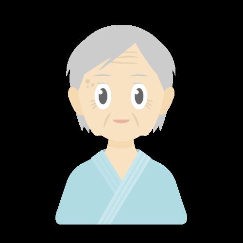人物(患者/老人/女性)の無料アイコン・イラスト素材