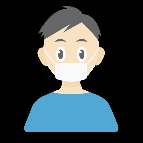 人物(マスク/男性)の無料アイコン・イラスト素材