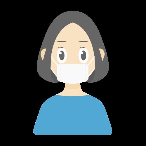 人物(マスク/女性)の無料アイコン・イラスト素材