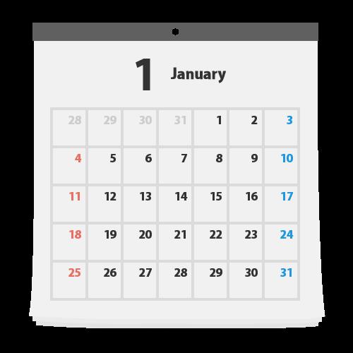 カレンダーの無料アイコン・イラスト素材