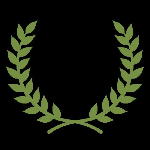 月桂冠(緑)の無料アイコン・イラスト素材