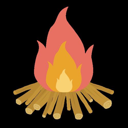 たき火の無料アイコン・イラスト素材