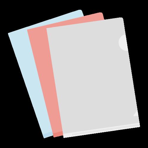クリアファイルの無料アイコン・イラスト素材
