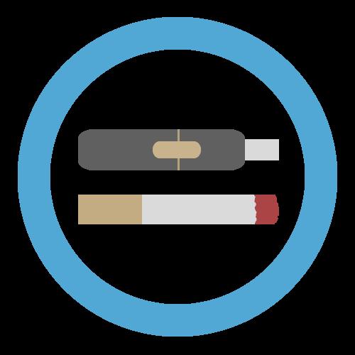 喫煙可・喫煙席(電子タバコ)の無料アイコン・イラスト素材