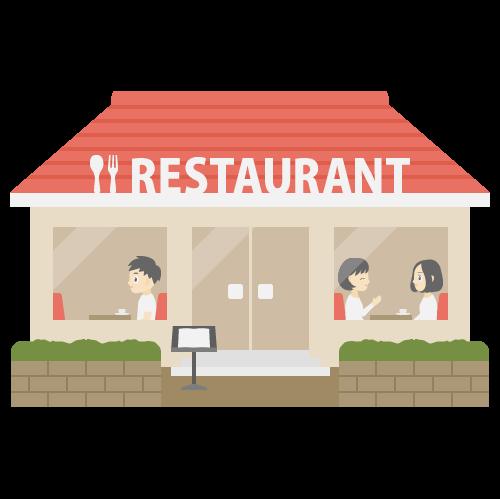 ファミリーレストランの無料アイコン・イラスト素材