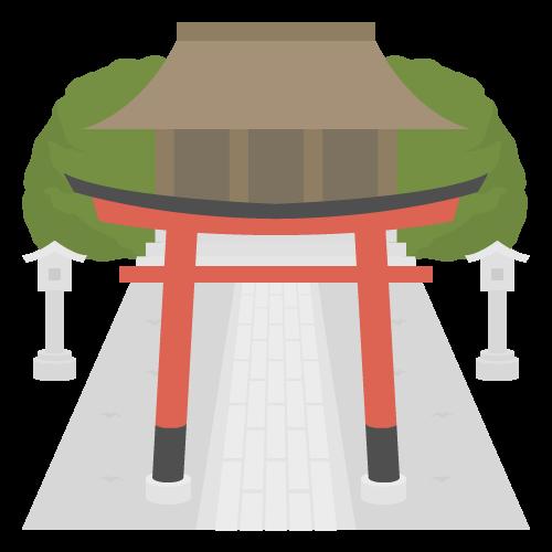 神社の無料アイコン・イラスト素材