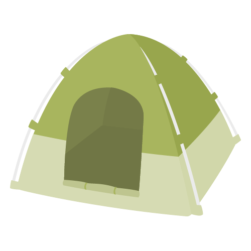テント・アウトドアの無料アイコン・イラスト素材