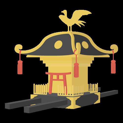 お神輿のアイコン・イラスト