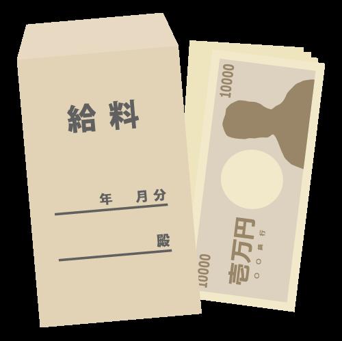 給料袋のアイコン・イラスト