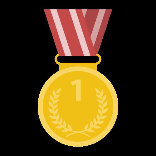 金メダルの無料アイコン・イラスト素材