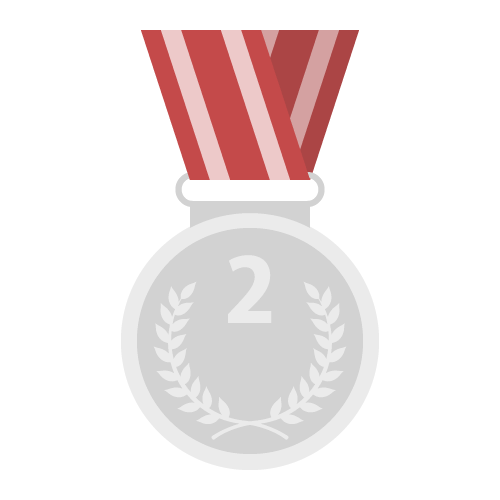 銀メダルの無料アイコン・イラスト素材