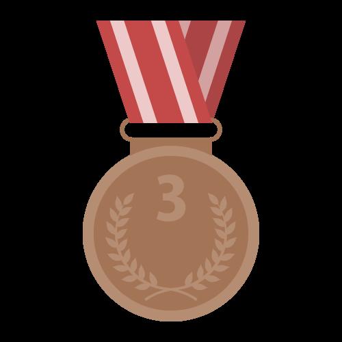 銅メダルの無料アイコン・イラスト素材