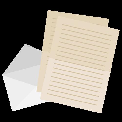 手紙・便箋の無料アイコン・イラスト素材