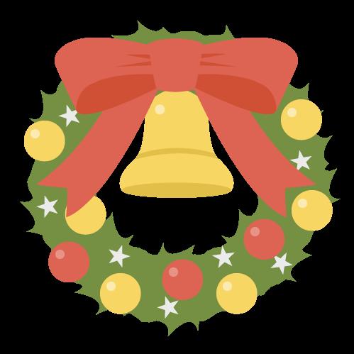 リース(クリスマス)の無料アイコン・イラスト素材