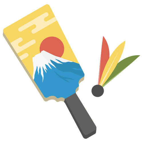 羽子板(お正月)の無料アイコン・イラスト素材