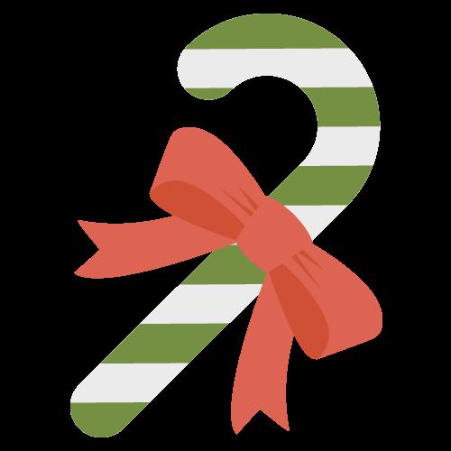 杖(クリスマス)のアイコン・イラスト