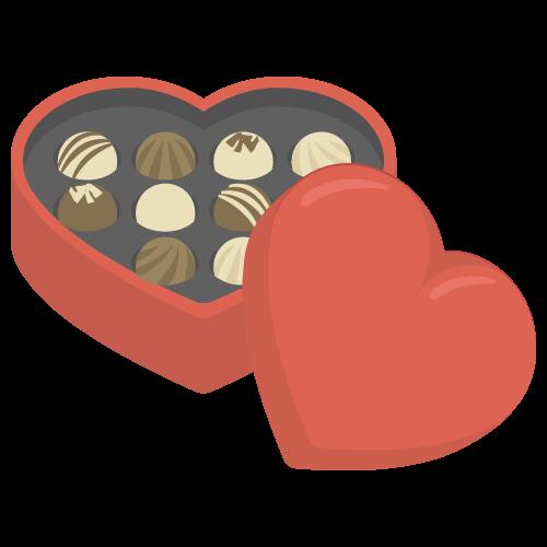 チョコレート(バレンタインデー)の無料アイコン・イラスト素材