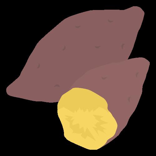 焼き芋の無料アイコン・イラスト素材