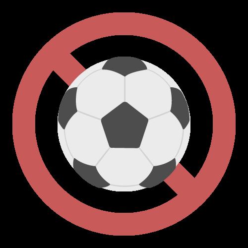 ボール遊び禁止の無料アイコン・イラスト素材