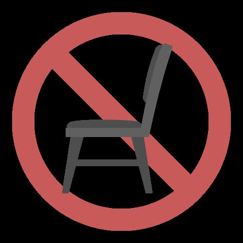 座席使用禁止の無料アイコン・イラスト素材