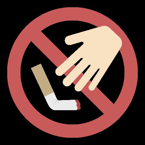 ポイ捨て禁止1の無料アイコン・イラスト素材