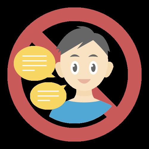 会話禁止の無料アイコン・イラスト素材