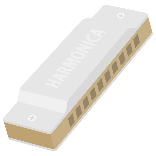 ハーモニカの無料アイコン・イラスト素材