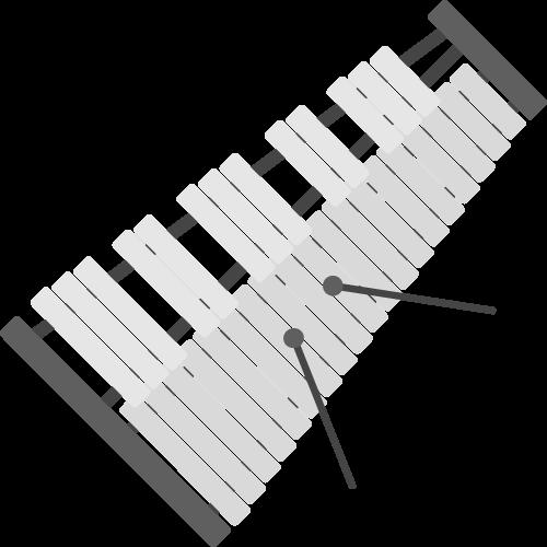 鉄琴の無料アイコン・イラスト素材