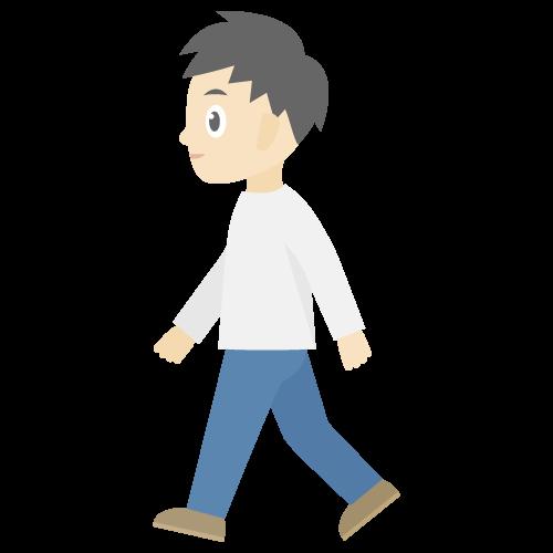 人物(歩いている男性)の無料アイコン・イラスト素材