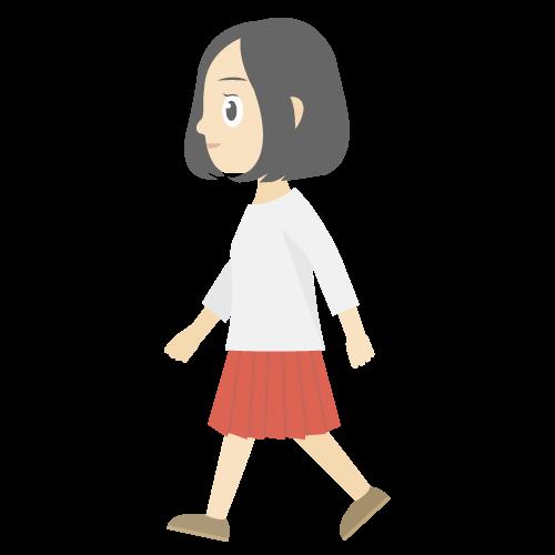 人物(歩いている女性)の無料アイコン・イラスト素材