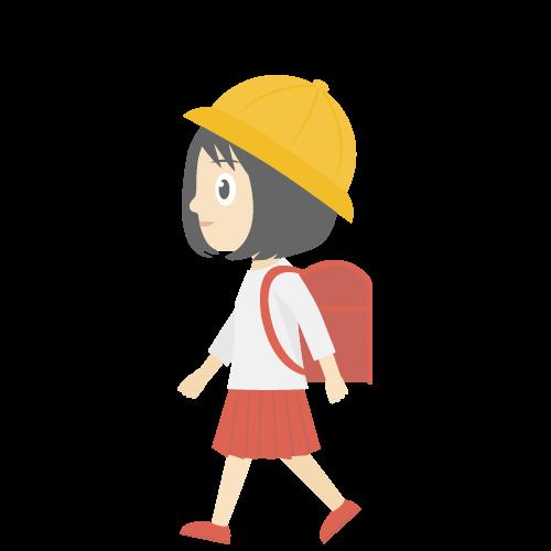 通学中の女の子の無料アイコン・イラスト素材