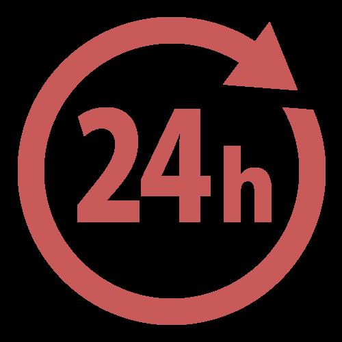 24時間営業マークの無料アイコン・イラスト素材
