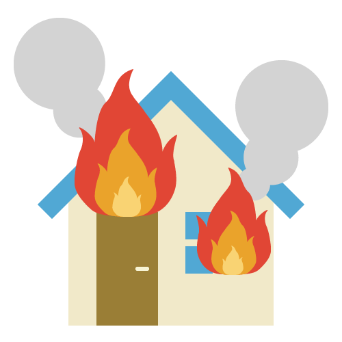 火事の無料アイコン・イラスト素材