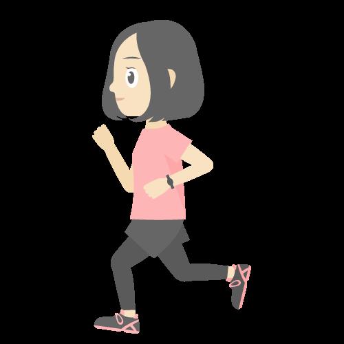人物(走っている女性)の無料アイコン・イラスト素材