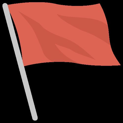 旗・フラッグ(赤)の無料アイコン・イラスト素材