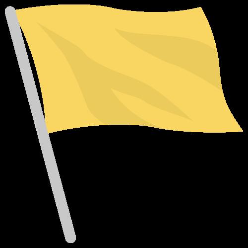 旗・フラッグ(黄)の無料アイコン・イラスト素材