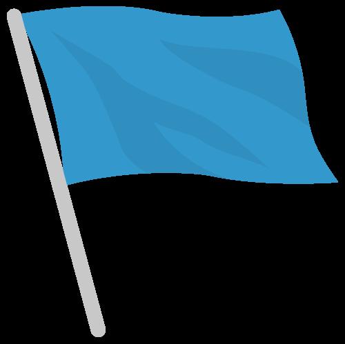 旗・フラッグ(青)の無料アイコン・イラスト素材