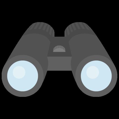 双眼鏡のアイコン・イラスト
