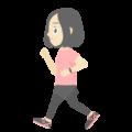 ウォーキングしている女性の無料アイコン・イラスト素材