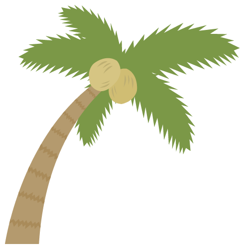 ヤシの木の無料アイコン・イラスト素材